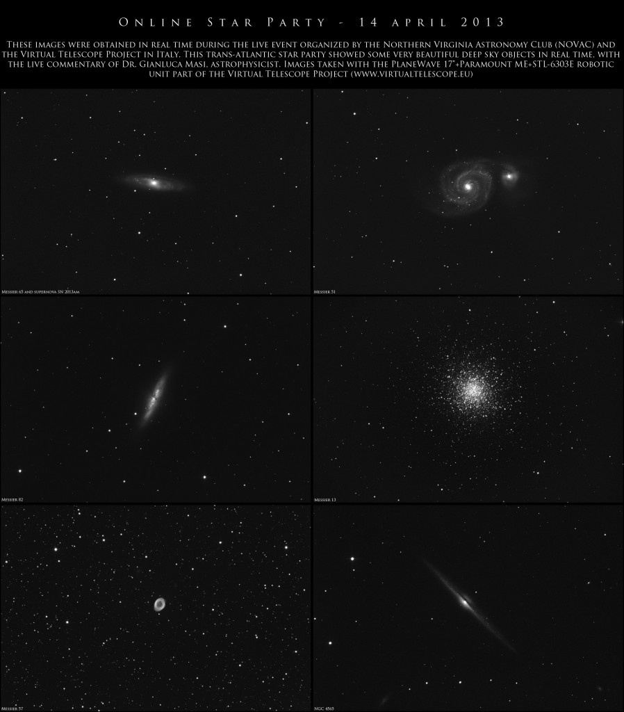 Online Star Party: 14 April 2013