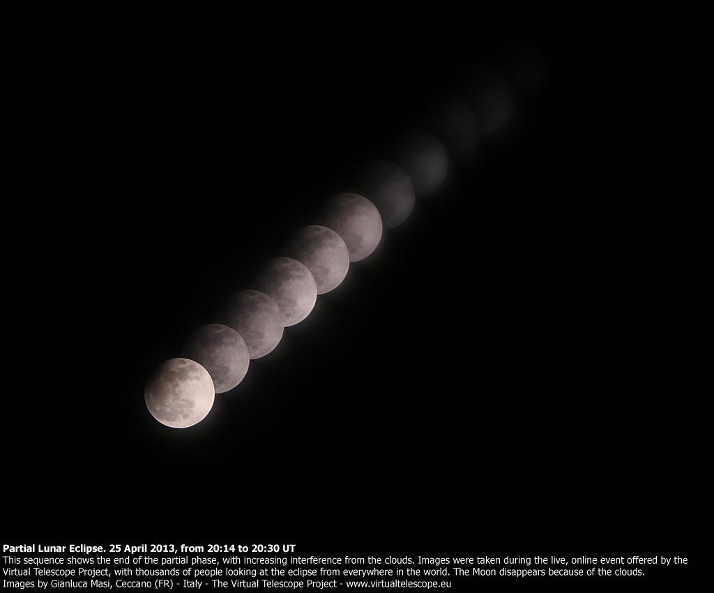 Partial Lunar Eclipse - 25 April 2013: sequence