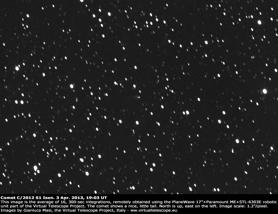 "Comet C/2012 S1 ""Ison"": 3 Apr. 2013"