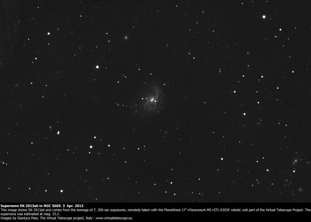 Supernova SN 2013ab in NGC 5669: 3 Apr. 2013