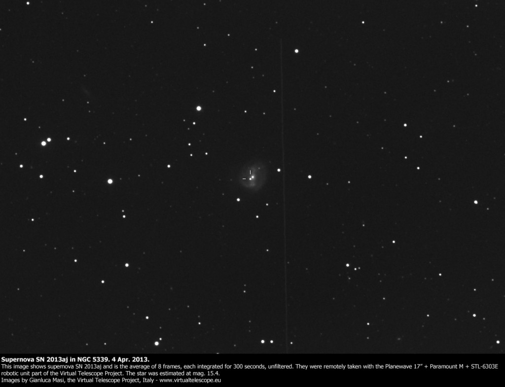 Supernova SN 2013aj in NGC 5339: 4 Apr. 2013