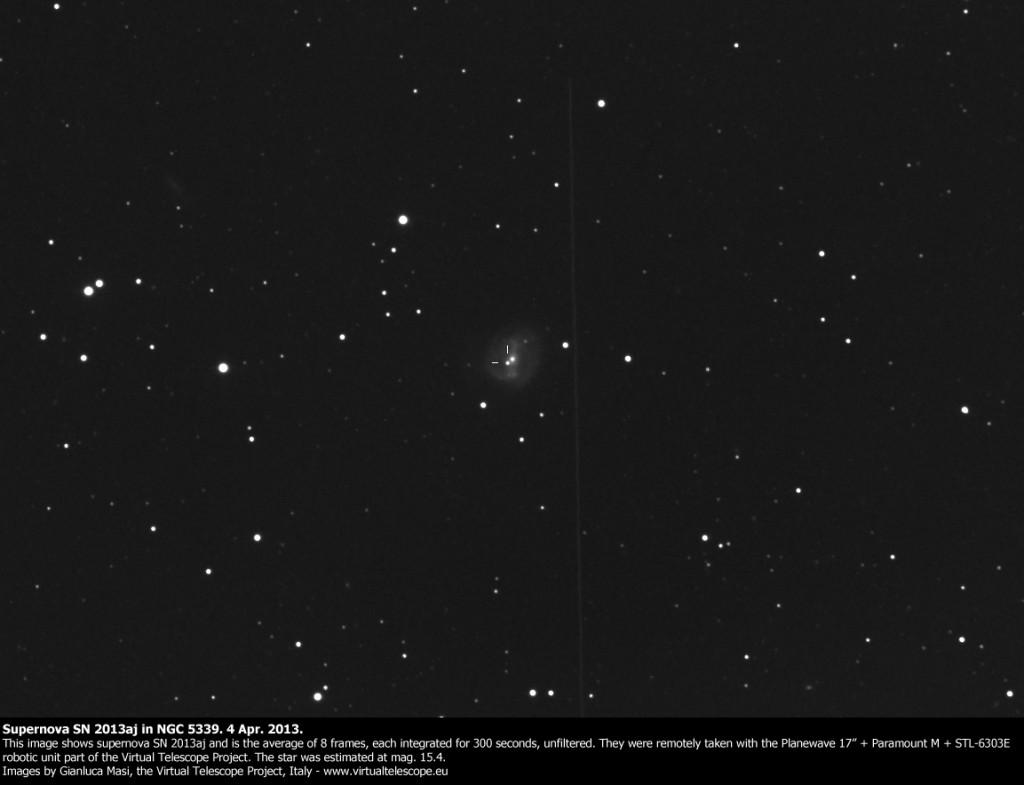 Supernova SN 2013aj in NGC 5339: 4 Apr. 2013