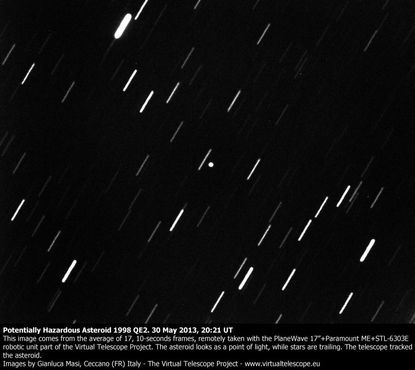 Potentially Hazardous Asteroid 1998 QE2: 30 May 2013