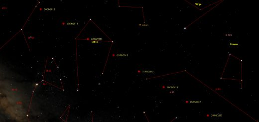 Potentially Hazardous Asteroid (285263) 1998 QE2 close encounter: path in the sky