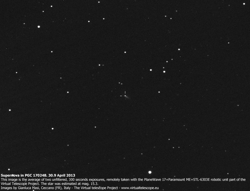 Supernova in PGC 170248 – 30 Apr. 2013