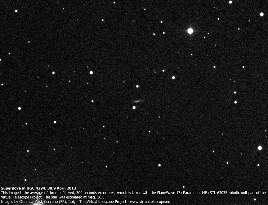 Supernova in UGC 4294 - 30 Apr. 2013