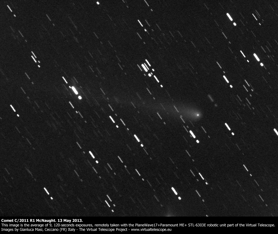Comet C/2011 R1 McNaught: 13 May 2013