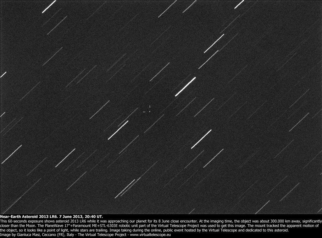 Near-Earth Asteroid 2013 RL6 approaching the Earth (7 June 2013)