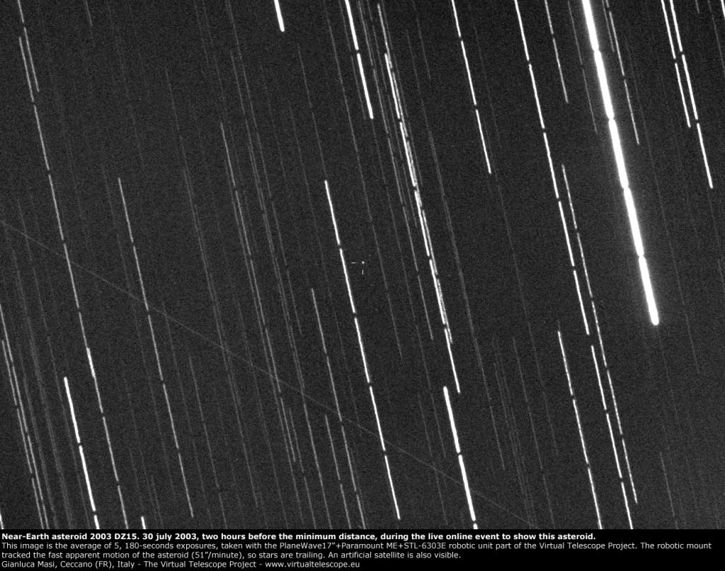 Near-Earth asteroid 2003 DZ15: 30 July 2013