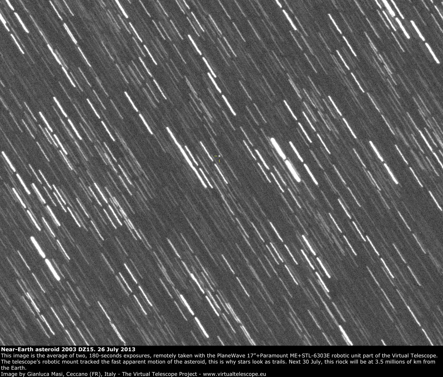 Near-Earth Asteroid 2003 DZ15: 26 July 2013