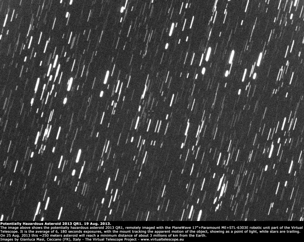 Potentially Hazardous Asteroid 2013 QR1: 19 Aug. 2013
