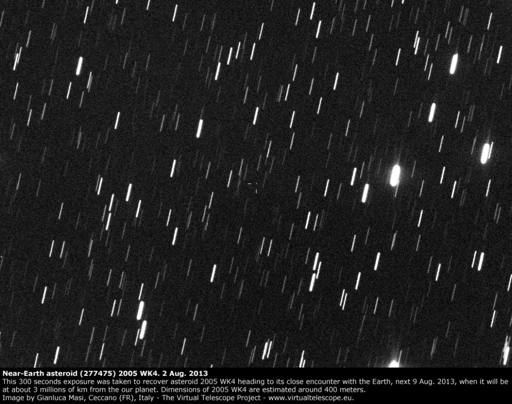 Near-Earth asteroid (277475) 2005 WK4: 2 Aug. 2013