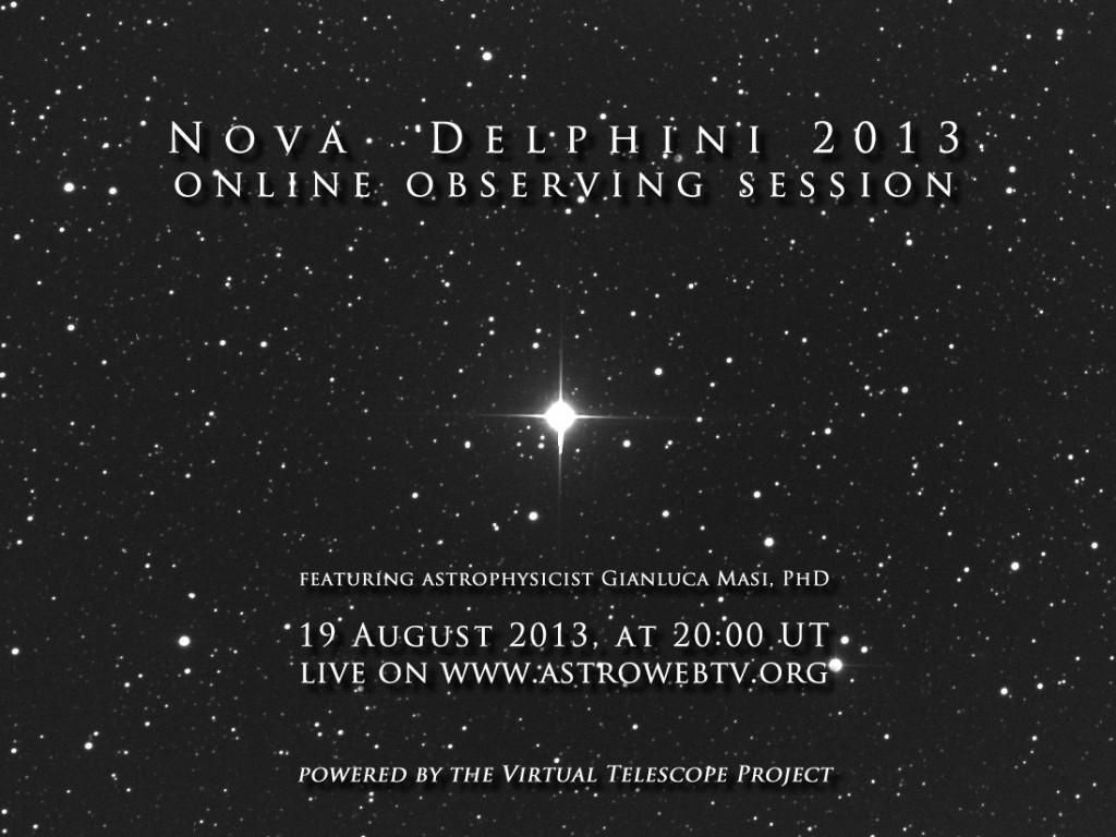 Nova Delphini 2013: online event