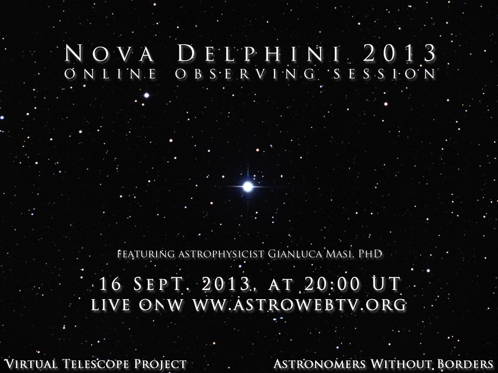 Nova Delphini 2013: live event