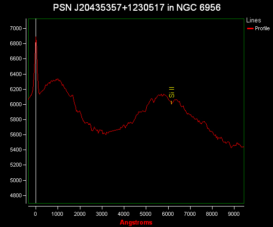 PSN J20435357+1230517 in NGC 6956: spectrum