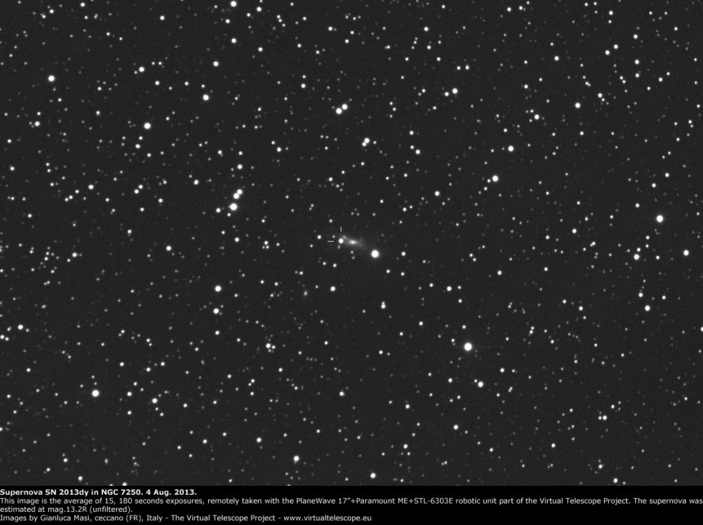 Supernova SN 2013 in NGC 7250: 4 Aug. 2013