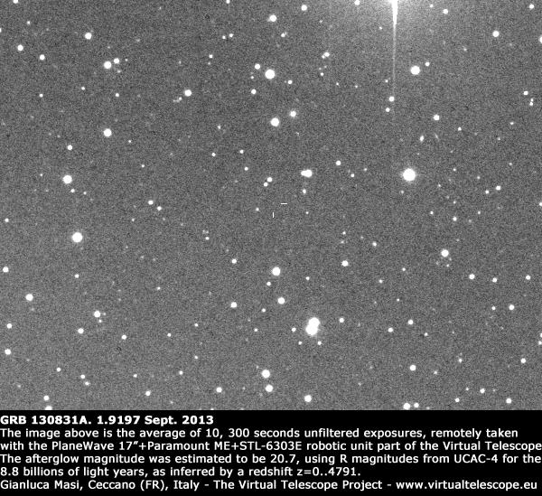 GRB 130831A: 1.9197 Sept. 2013