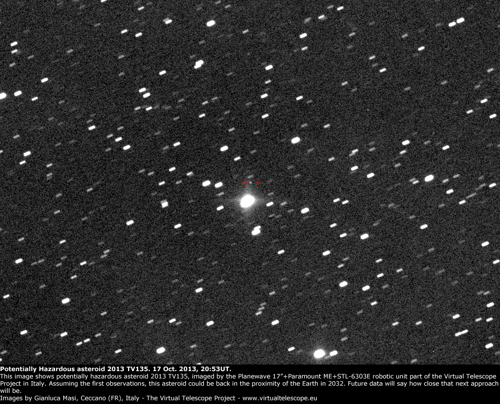 Potentially Hazardous Asteroid 2013 TV135: 17 Oct. 2013