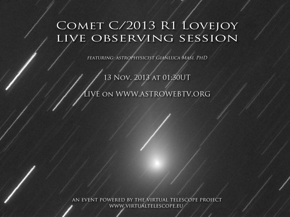 C/2013 R1 Lovejoy: live event