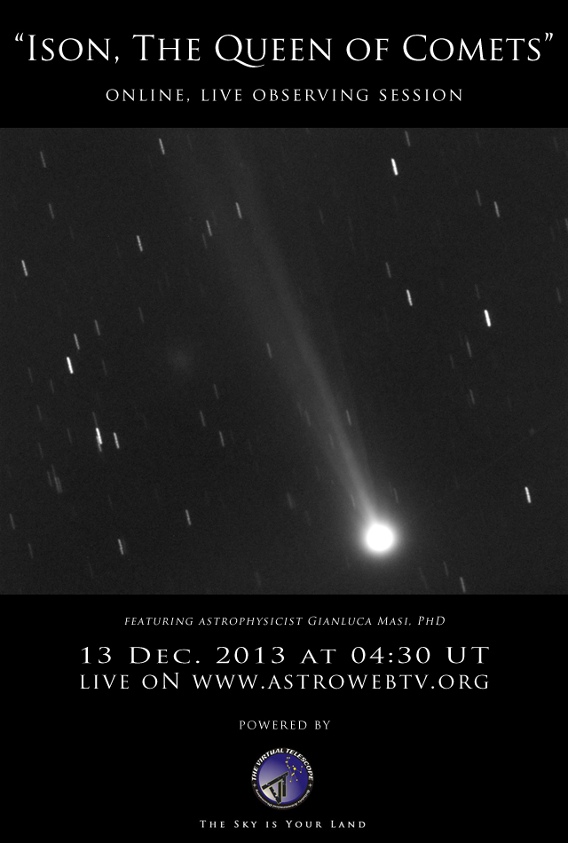 Ison, the Queen of Comets: online, live observing session ...