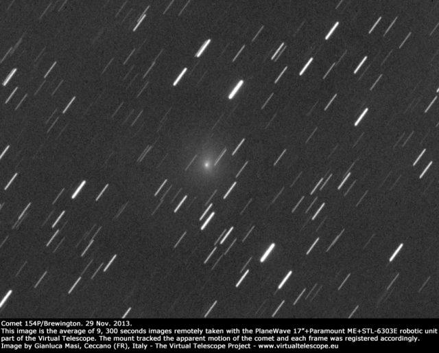 Comet 154P/Brewington: 29 Nov. 2013