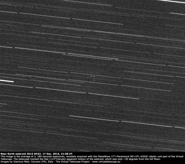 Near-Earth asteroid 2013 XH22: an amazing image (17 Dec ...