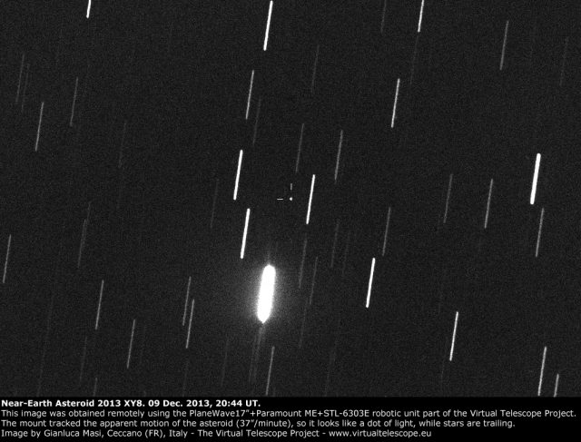 Near-Earth asteroid 2013 XY8: 09 Dec. 2013