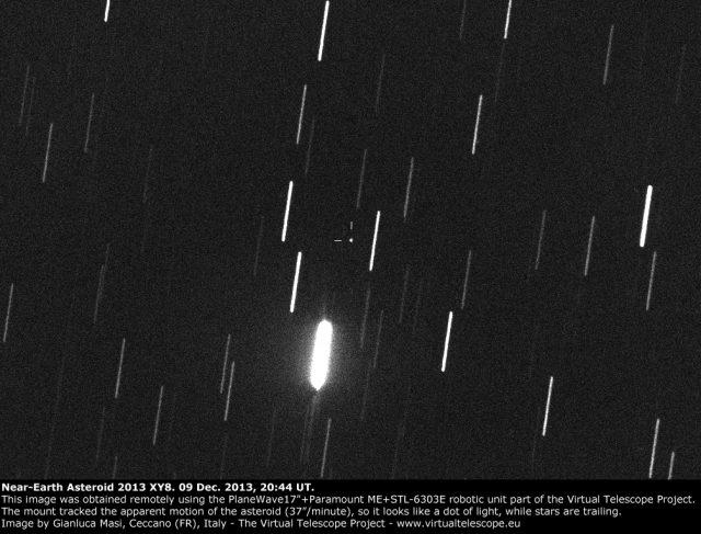Near-Earth asteroid 2013 XY8: 09 Dec. 2013