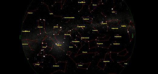 Star Chart: 15 Dec. 2013, 19:30 UT for (13°E,41°N)