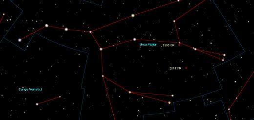 Potentially hazardous asteroid 1995 CR and near-Earth asteroid 2014 CR: 20 Feb. 2014