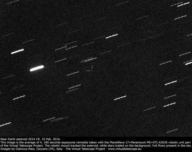 Near-Earth asteroid 2014 CR: 16 Feb. 2014
