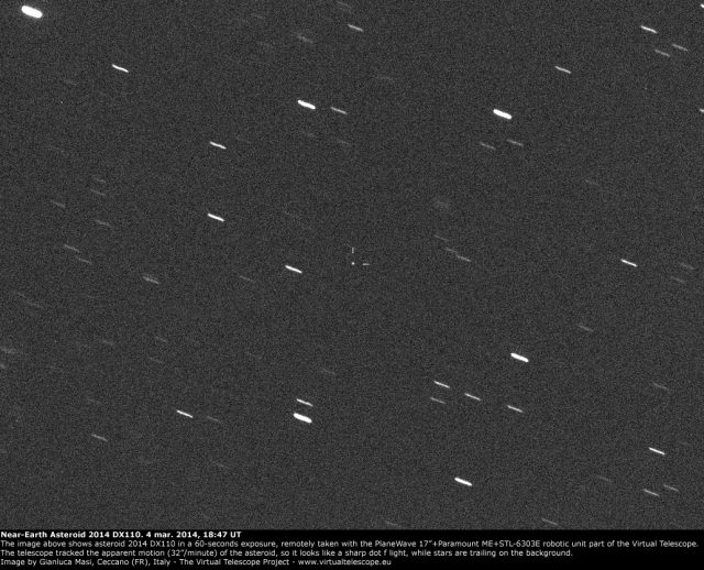 Near-Earth Asteroid 2014 DX110: 4 Mar. 2014