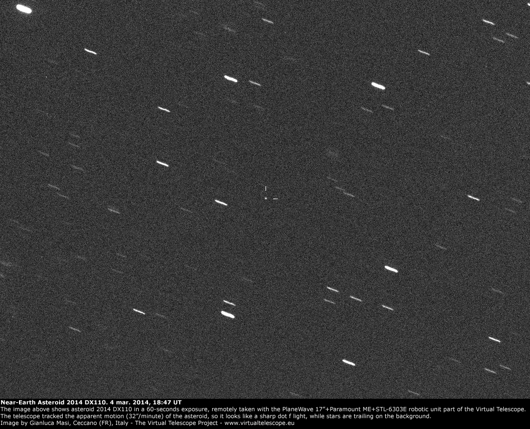 asteroid 2014 pp69 - HD 1032×836