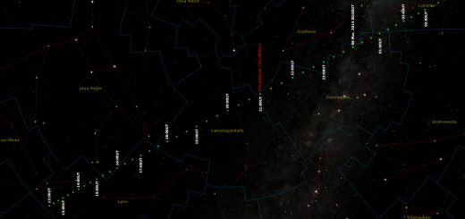 Near-Earth Asteroid 2014 DX110: path across the stars