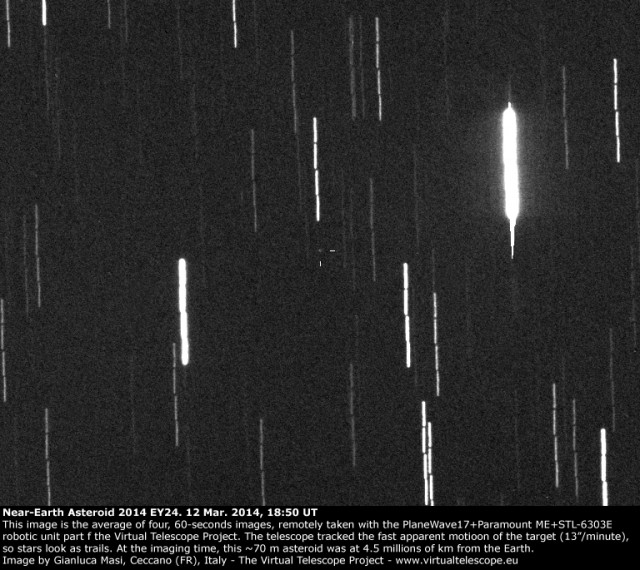 Near-Earth Asteroid 2014 EY24: 12 Mar. 2014