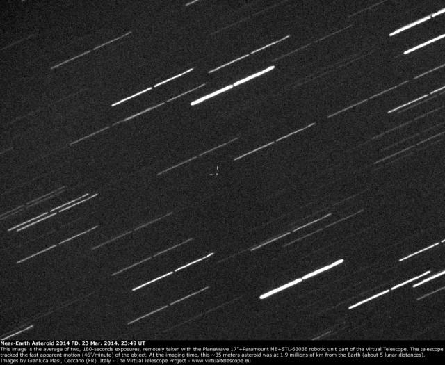 Near-Earth Asteroid 2014 FD: 23 Mar. 2014