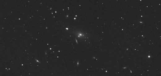 NGC 2832 in a dense field of galaxies
