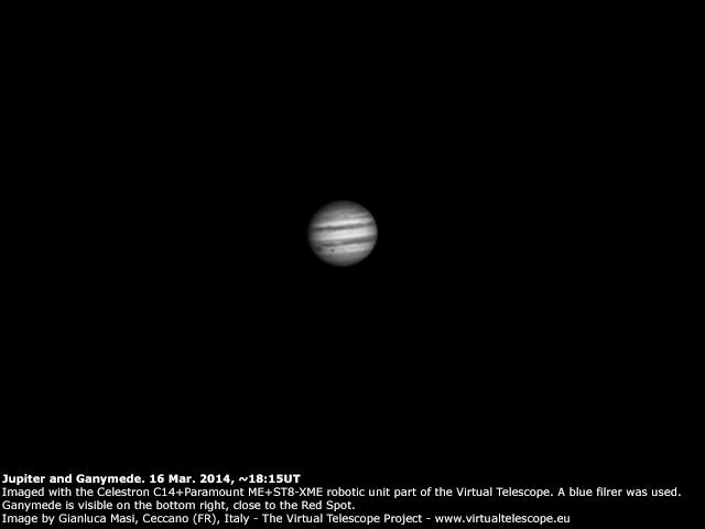Jupiter and Ganymede: 16 Mar. 2014