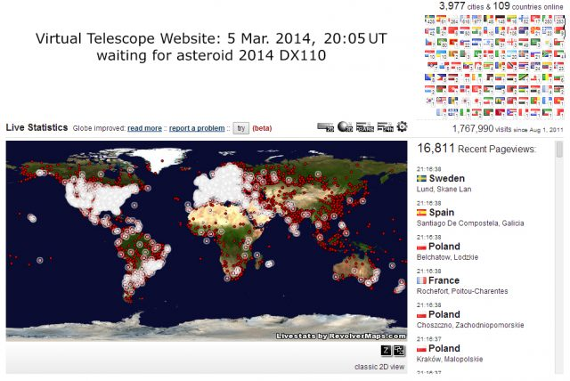 Asteroid 2014 DX110 event: almost ready to go!