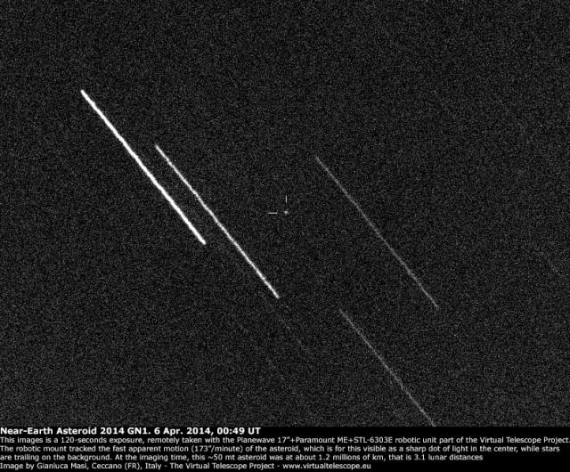 Near-Earth Asteroid 2014 GN1: 6 Apr. 2014