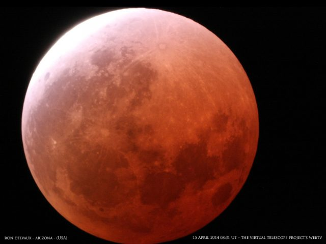 The Sun is back. The totality ended. But not our admiration and awe. Image by Ron Delvaux, shared live via The Virtual Telescope Project