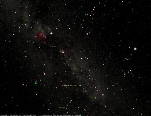Nova Cygni 2014 (was PNV J20214234+3103296): star chart