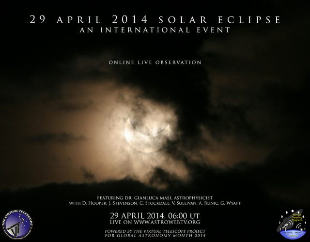 29 April 2014 Solar Eclipse: poster