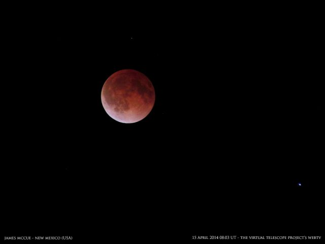 The totality is not long enough to fully enjoy its eternal beauty: it is preparing for leaving with grace. Image by James McCue, shared live via The Virtual Telescope Project