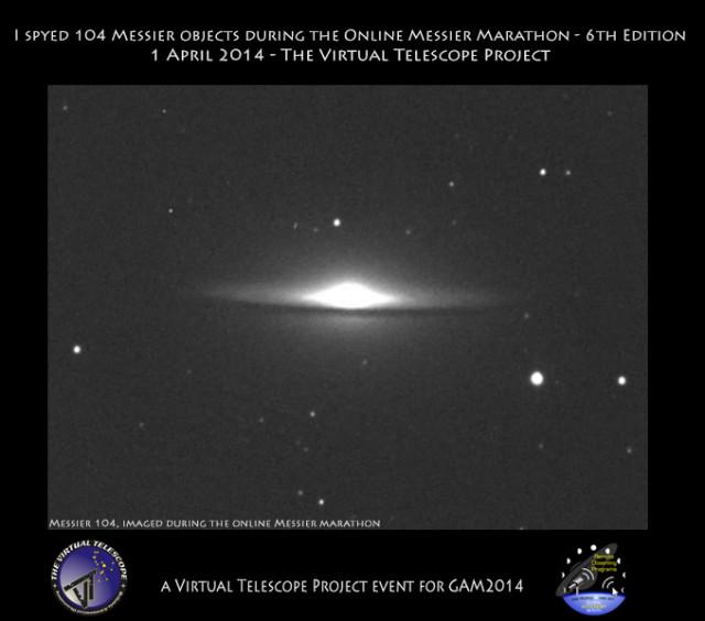 2014 Online Messier Marathon: certificate