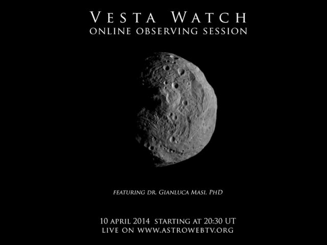 Vesta Watch: online observation
