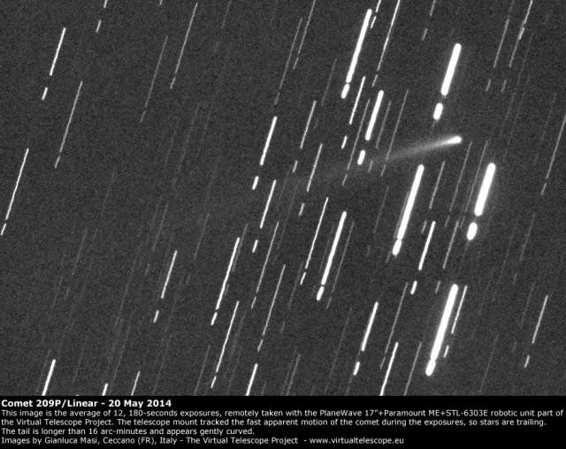 Comet 209P/Linear: 20 May 2014