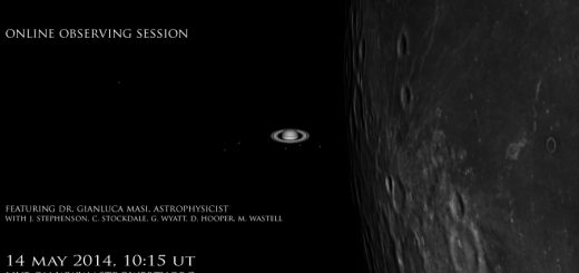 The Moon occults Saturn: poster