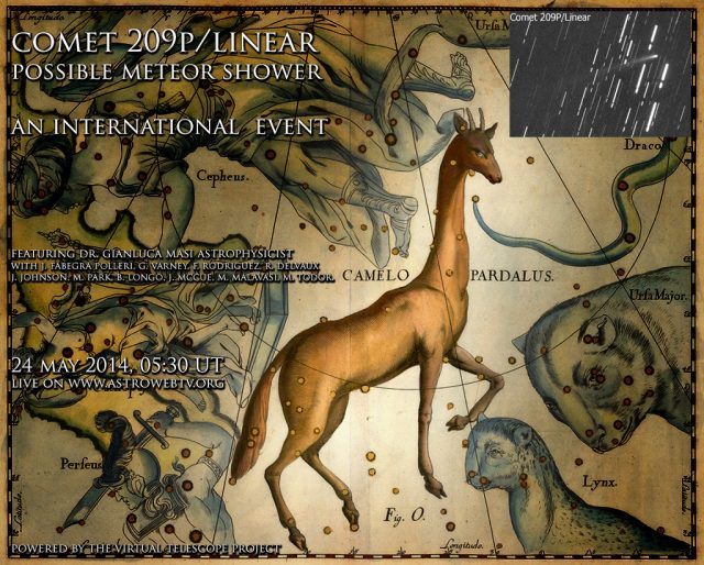 The Camelopardalids live event: poster