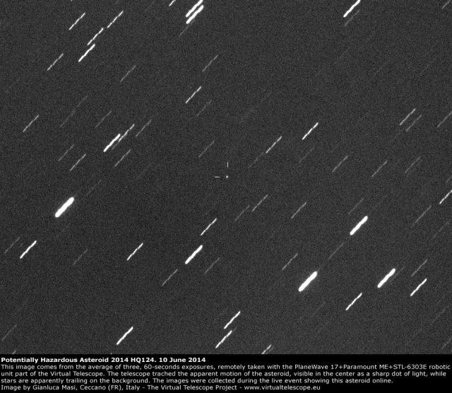 Potentially Hazardous Asteroid 2014 HQ124: 10 June 2014